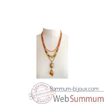 Joyaux de la couronne-Collier twist fresques-cotwifre