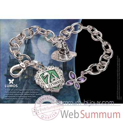 Bracelet charms - lumos serpentard - harry potter Noble Collection -NN7710