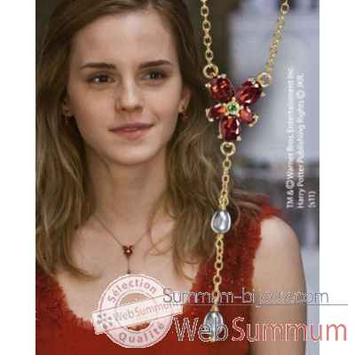 Collier cristal rouge d\'hermione Noble Collection -NN7900