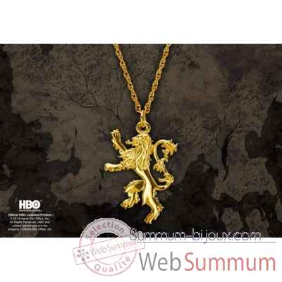 Game of thrones - pendentif lannister Noble Collection -NN0062