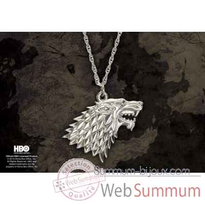 Game of thrones - pendentif stark Noble Collection -NN0065