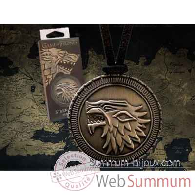 Game of thrones - pendentif stark Noble Collection -NNXT0090