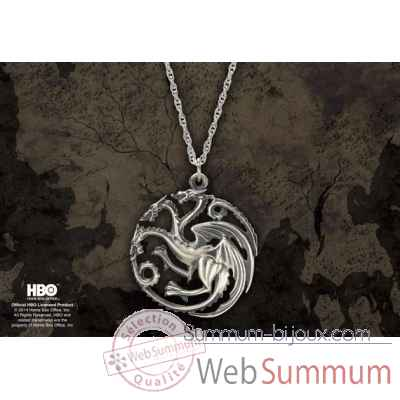 Game of thrones - pendentif targaryen Noble Collection -NN0064