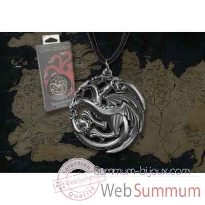 Got - targaryen pendentif - replique Noble Collection -NNXT0088