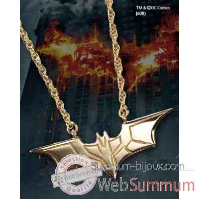Pendentif - dark knight plaqué or Noble Collection -NN4729