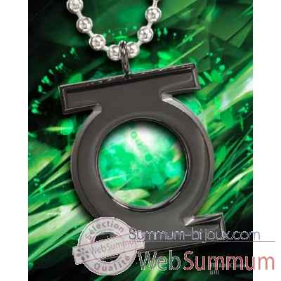 Pendentif embleme green lantern noir Noble Collection -NNXT8330
