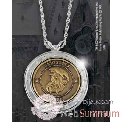 Pendentif - gringotts Noble Collection -NN7591