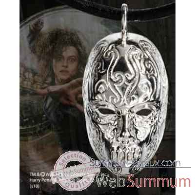 Pendentif masque de bellatrix Noble Collection -NN7588