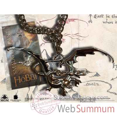 Pendentif metal smaug Noble Collection -NNXT6215