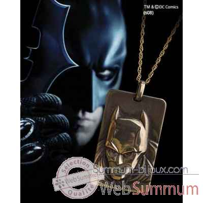 Pendentif - plaque batman™ dark knight Noble Collection -NN4728