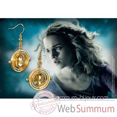 Retourneur de temps - boucles d\'oreilles Noble Collection -NN7611