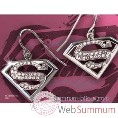 Supergirl™ - boucles d\\\'oreilles cristal Noble Collection -NN4028